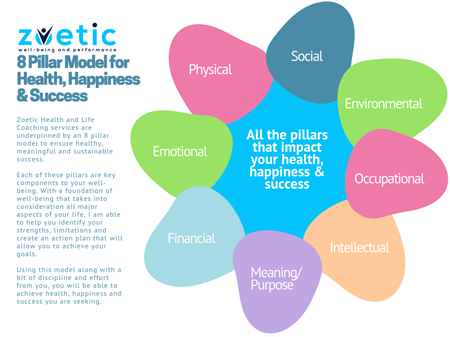 The Zoetic 8 Pillar Model for Health, Happiness, and Success